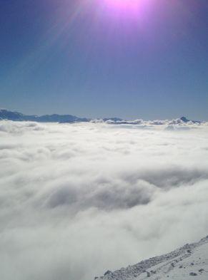Mer de nuage au Rocher de Naye